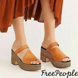 🆕Free People Platform Mule Slide Sandal TAUPE